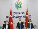 أردوغان، خلال اجتماع في مركز تنسيق إدارة الكوارث والطوارئ التركية