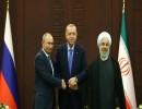 زعماء تركيا وروسيا وإيران