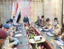 رئيس الوزراء العراقي مصطفى الكاظمي يزور مقر قيادة العمليات المشتركة.
