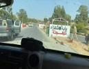 لقطة لقوات الجيش الليبي وهي تدخل من بوابة ترهونة