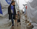لاجئون سوريون في أحد مخيمات لبنان