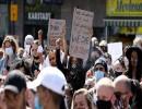 المئات يحتجون في لندن وبرلين على مقتل جورج فلويد في الولايات المتحدة