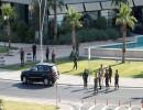 عناصر من قوات الأمن قرب موقع الهجوم على دبلوماسيين أتراك في أربيل