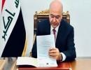 برهم صالح يوقّع قانون الانتخاب الجديد