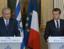 شاهد  .. مؤتمر صحفي بين الرئيس الفرنسي ورئيس وزراء إسرائيل