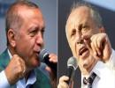 أردوغان قد يضطر إلى خوض جولة إعادة أمام منافسه الرئيسي مرشح حزب الشعب الجمهوري محرم إنجة