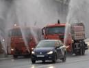شاهد : تطهير الشوارع والمنازل في موسكو لمنع كورونا