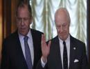 وزير الخارجية الروسي سيرجي لافروف و ستافان دي ميتسورا