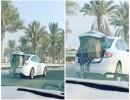 فتاة بالبحرين وضعت خادمتها في صندوق سيارة
