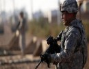 عسكري أميركي في قاعدة التاجي بالعراق (أرشيفية)