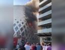 شاهد : اندلاع حريق جديد بالحي التجاري في بيروت