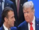 الرئيس الفرنسي إيمانويل ماكرون والرئيس الأمريكي دونالد ترامب