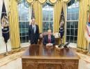 الرئيس الأمريكي دونالد ترامب و وزير الخارجية الروسي سيرغي لافروف