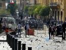 شاهد : الأمن يطلق قنابل غاز على محتجين وسط بيروت