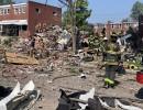 شاهد : انفجار قوي في بالتيمور الأمريكية يسوي منازل بالأرض