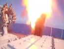 شاهد.. لحظة إطلاق بوارج حربية روسية لصواريخ كاليبر ضد أهداف تنظيم الدولة في سوريا