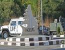 من محيط مقر اجتماع الوفد المفاوض في ترسيم الحدود بين لبنان وإسرائيل