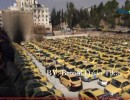 اعتصام سائقي التاكسي الاصفر وفي الصورة عشرات السيارات
