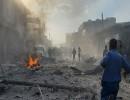 """جانب من تفجير  في منطقة """"الباب"""" شمالي سوريا"""