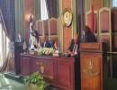 وزيرا الخارجية المصري واليوناني لحظة التوقيع