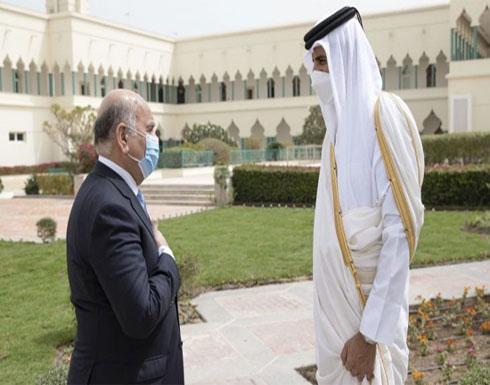أمير قطر يبحث مع وزير الخارجية العراقي مستجدات إقليمية ودولية