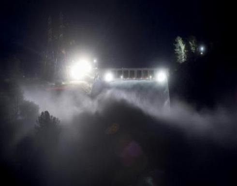 عمليات اجلاء كثيفة في شمال كاليفورنيا تخوفا من فيضان اطول سد في الولايات المتحدة