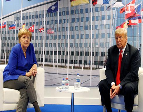 لقاء أمريكي ألماني على هامش قمة الناتو في بروكسل