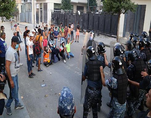 شاهد : اشتباكات بين محتجين وقوات الأمن في بيروت