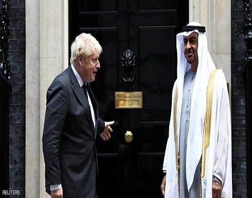 محمد بن زايد يبحث مع جونسون في لندن مستجدات الشرق الأوسط