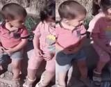 أم عراقية أخرى تلقي طفليها في الشارع .. بالفيديو