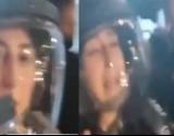 """شاهد..جندية إسرائيلية تبكي وفلسطيني يسخر: """"تعيطيش"""""""
