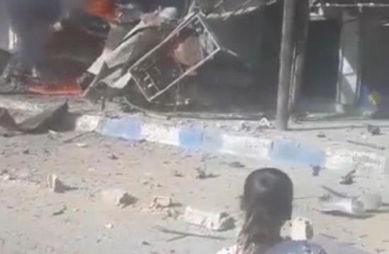شاهد : انفجار سيارة مفخخة في مدينة تل أبيض شمال سوريا