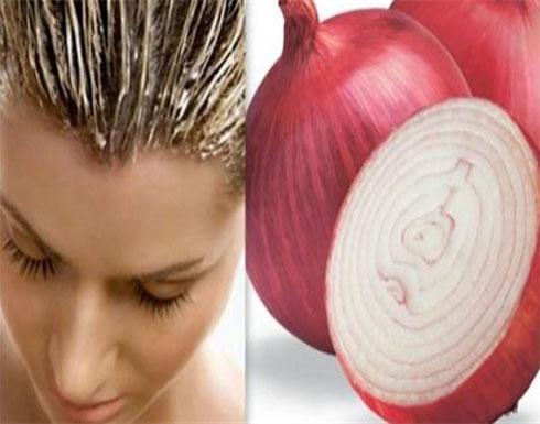 عصير البصل على شعرك فعال لتساقط الشعر