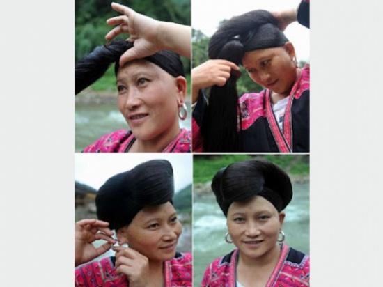 بالصور.. نساء قبيلة «الياو» الأطول شعرًا في العالم