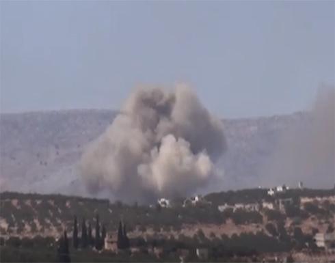 شاهد : الطائرات الحربية الروسية تستهدف بالصواريخ محافظة إدلب