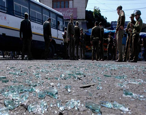 بالفيديو : كشمير.. جرحى بانفجار قنبلة في محطة للحافلات
