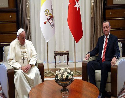 """""""القدس"""" على رأس أجندة أردوغان في زيارته إلى الفاتيكان"""