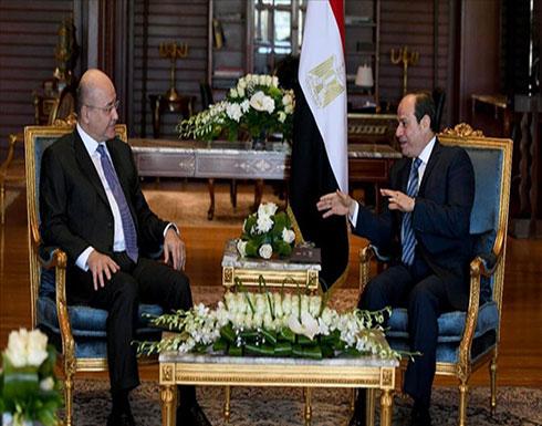 عراقيون يستنكرون غياب علمهم عن لقاء صالح والسيسي