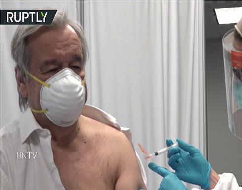 شاهد : الأمين العام للأمم المتحدة يتلقى الجرعة الأولى من اللقاح ضد كورونا