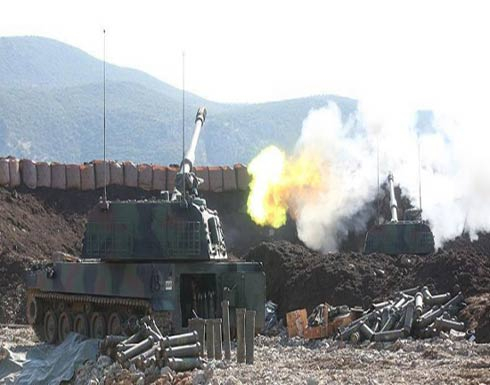 المدفعية التركية تقصف مواقع الإرهابيين غربي عفرين
