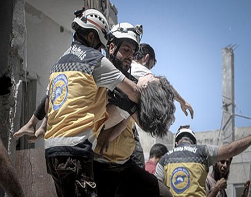 شاهد : لحظة انقاذ الجرحى من تحت الانقاض في مدينة أريحا جنوب ادلب