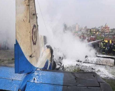 احتراق طائرة ركاب أثناء هبوطها في نيبال