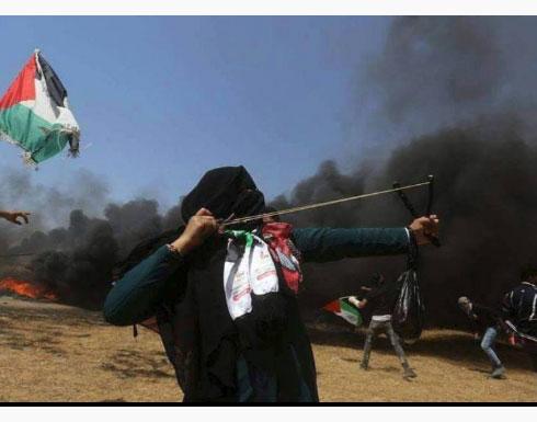 غزة : المرأة الفلسطينية تجترح المعجزات  في جمعة جديدة من مسيرات العودة