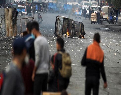 توتر وسط بغداد.. قنبلة يدوية تصيب ضابطاً عراقياً