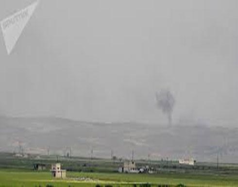 شاهد : غارات الحربي السوري تدك مقرات النصرة شمال حماة