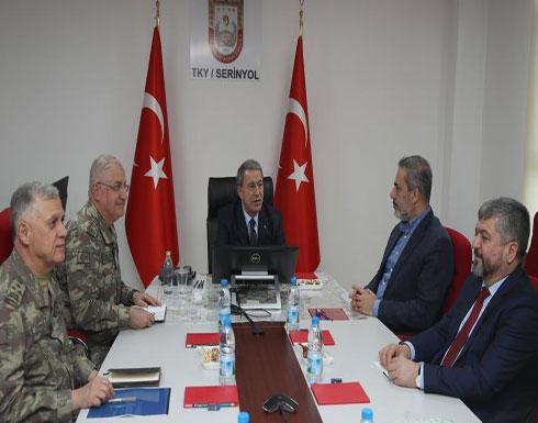 قادة الجيش والمخابرات التركية يجتمعون على الحدود مع سوريا