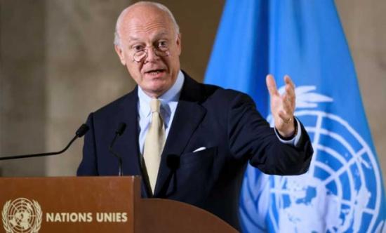دي ميستورا يدعو لوقف إطلاق النار بسوريا تفادياً لتكرار ما حدث في حلب