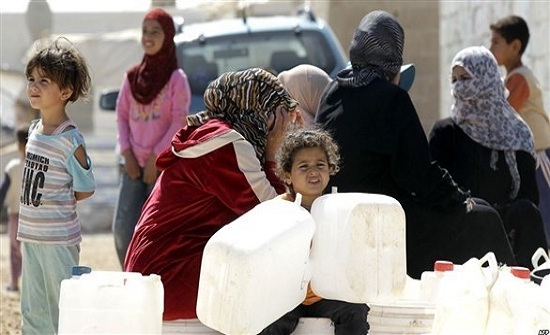 الأردن : 35 لتراً حصة اللاجئ السوري اليومية من المياه