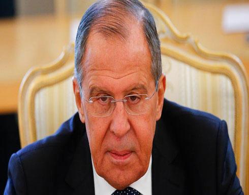 """لافروف يتهكم على تصريحات بريطانية تتهم روسيا بـ""""الإرهاب"""""""