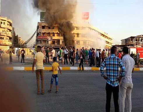 شاهد : لحظة انفجار السيارة المفخخة في محافظة الأنبار غربي العراق